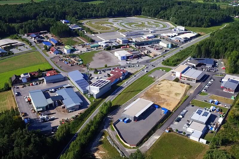 Gewerbepark Greinbach Luftaufnahme