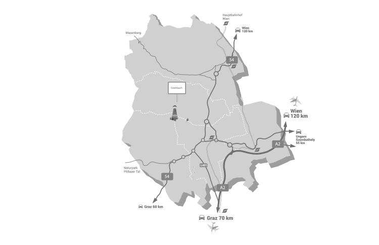Karte Greinbach
